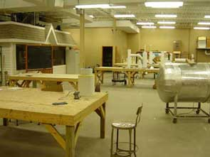 Image of workshop attached to classroom